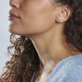 Boucles D'oreilles Pendantes Plaque Or Jaune - Boucles d'oreilles fantaisie Femme | Histoire d'Or