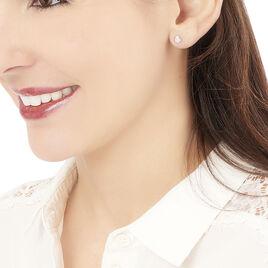 Boucles D'oreilles Puces Hajila Or Blanc Diamant - Clous d'oreilles Femme | Histoire d'Or
