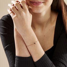 Bracelet Evora Argent Rose Oxyde De Zirconium - Bijoux Etoile Femme   Histoire d'Or