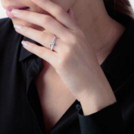 Bague April Or Blanc Oxyde De Zirconium - Bagues solitaires Femme | Histoire d'Or
