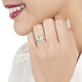 Bague Barbara Or Blanc Diamant - Bagues avec pierre Femme | Histoire d'Or