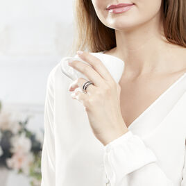 Bague Leticia Argent Blanc Oxyde De Zirconium - Bagues avec pierre Femme | Histoire d'Or