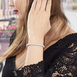 Bracelet Ciska Argent Blanc - Bracelets fantaisie Femme | Histoire d'Or