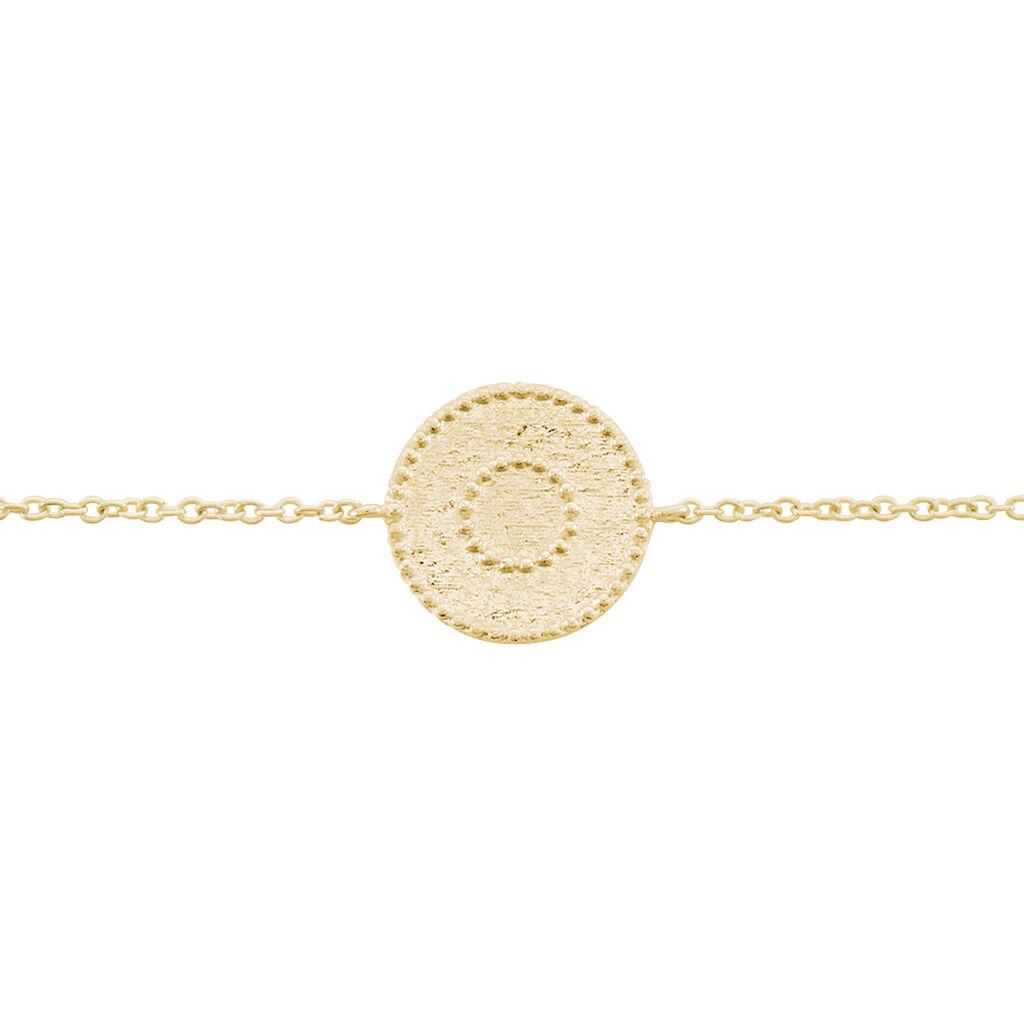 Bracelet Laria Plaque Or Jaune - Bracelets fantaisie Femme | Histoire d'Or