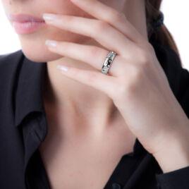 Bague Iria Acier Blanc Oxyde De Zirconium - Bagues avec pierre Femme | Histoire d'Or