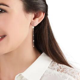 Boucles D'oreilles Pendantes Kia Or Jaune Perle De Culture - Boucles d'oreilles pendantes Femme | Histoire d'Or