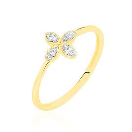 Bague Raskia Or Jaune Diamant - Bagues avec pierre Femme | Histoire d'Or