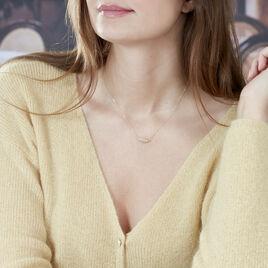 Collier Tilda Or Jaune Et Oxydes - Colliers Plume Femme   Histoire d'Or