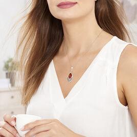 Collier Doralyn Argent Blanc Ambre - Bijoux Femme | Histoire d'Or