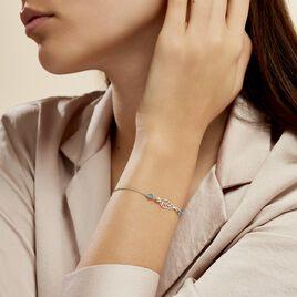 Bracelet Angelika Argent Blanc Pierre De Synthese - Bracelets Plume Femme | Histoire d'Or