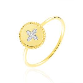 Bague Austina Or Jaune Diamant - Bagues avec pierre Femme | Histoire d'Or