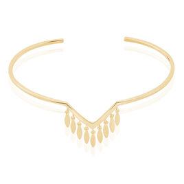 Bracelet Jonc Erini Plaque Or Jaune - Bracelets fantaisie Femme | Histoire d'Or