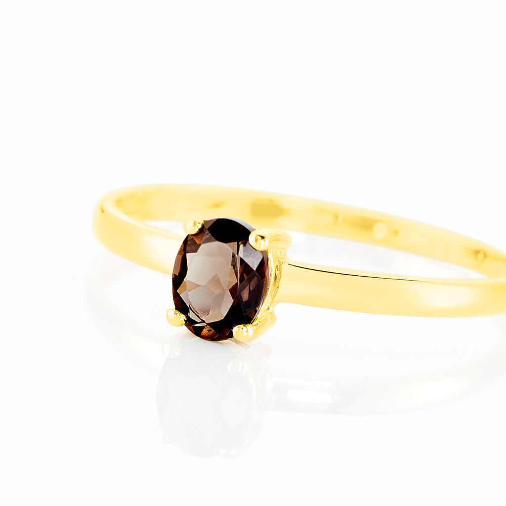 Bague Lily Or Jaune Quartz