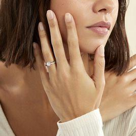 Bague Solitaire Essie Argent Blanc Oxyde De Zirconium - Bagues solitaires Femme | Histoire d'Or
