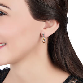Boucles D'oreilles Pendantes Rosalie Argent Blanc Ambre - Boucles d'oreilles fantaisie Femme | Histoire d'Or