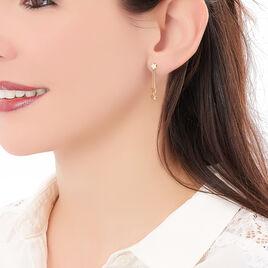 Boucles D'oreilles Pendantes Gladice Plaque Or Jaune - Boucles d'Oreilles Etoile Femme | Histoire d'Or