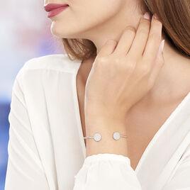 Bracelet Jonc Domitylle Argent Blanc Oxyde De Zirconium - Bracelets fantaisie Femme   Histoire d'Or