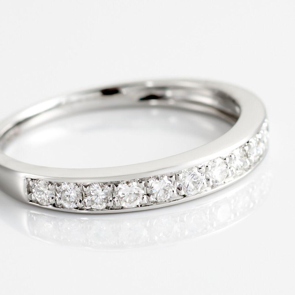 Demi Alliance Juliette Platine Blanc Diamant - Alliances Femme   Histoire d'Or