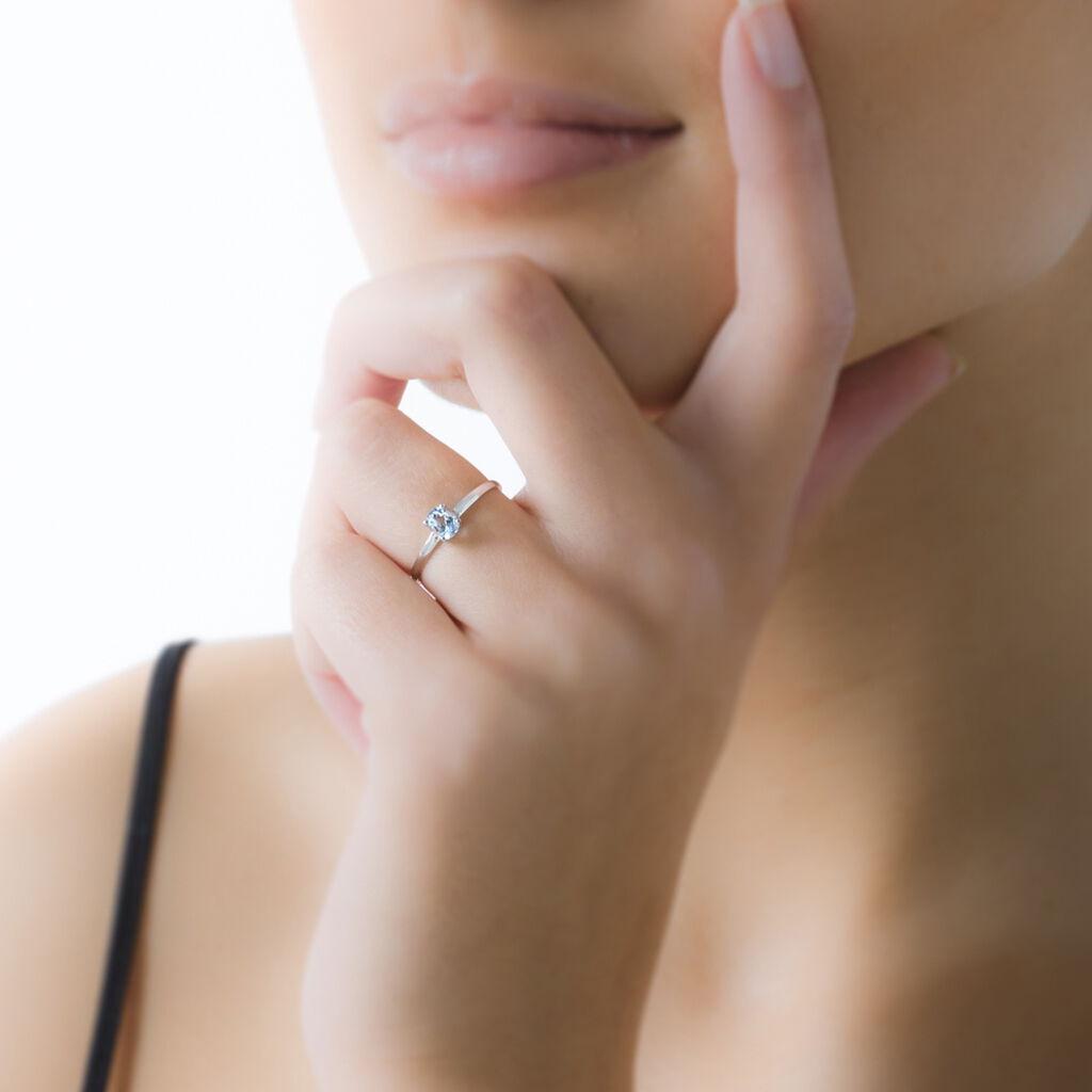 Bague Lily Or Blanc Rubis - Bagues avec pierre Femme | Histoire d'Or