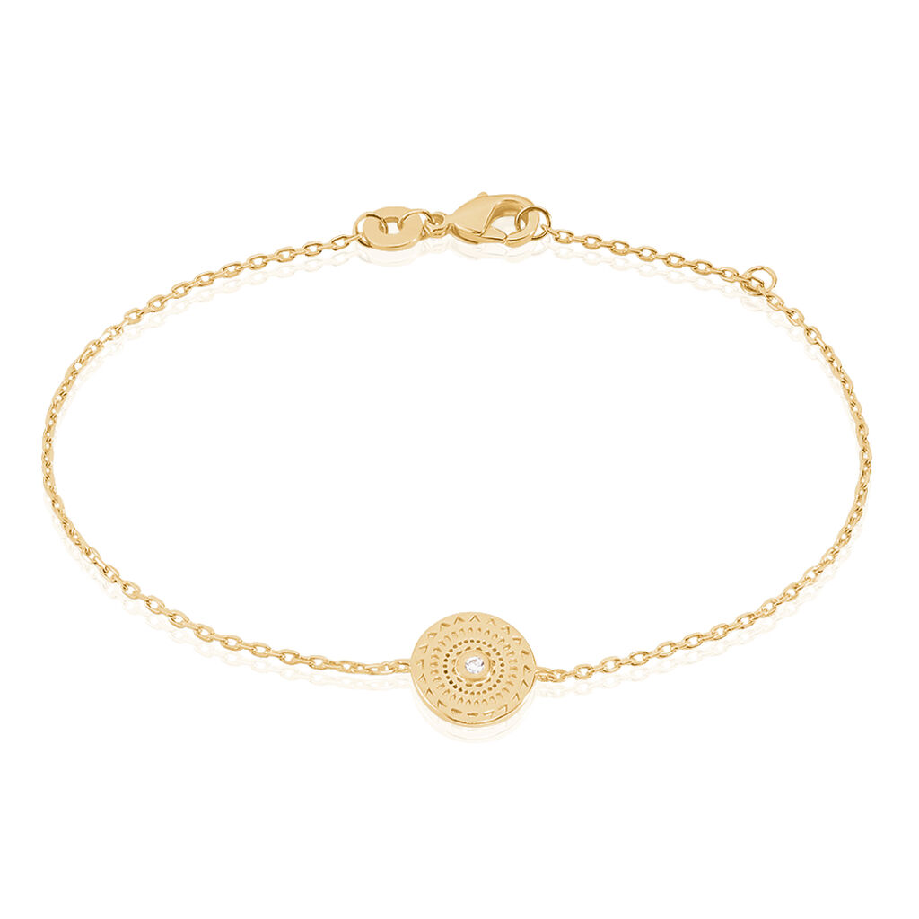Bracelet Plaque Or Carmina Cercle Cisele - Bracelets fantaisie Femme | Histoire d'Or