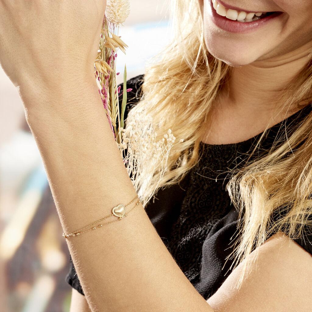 Bracelet Plaqué Or Jaune Marcelle - Bracelets Coeur Femme   Histoire d'Or