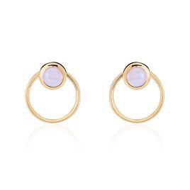 Bijoux D'oreilles Adhara Plaque Or Jaune Opale - Boucles d'oreilles fantaisie Femme   Histoire d'Or