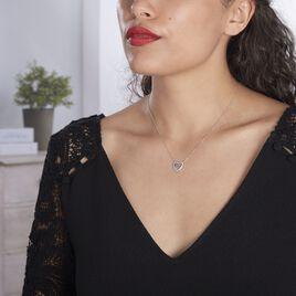 Collier Elansa Argent Blanc Oxyde De Zirconium - Colliers Coeur Femme | Histoire d'Or