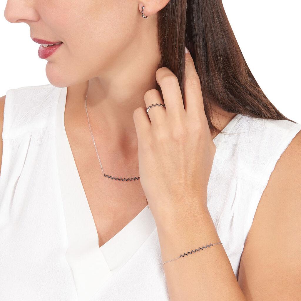 Boucles D'oreilles Puces Abby-gaelle Or Blanc Oxyde De Zirconium - Clous d'oreilles Femme | Histoire d'Or
