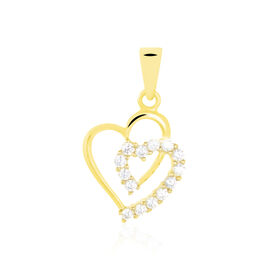 Pendentif Ivena Or Jaune Oxyde De Zirconium - Pendentifs Coeur Femme   Histoire d'Or