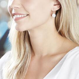 Boucles D'oreilles Puces Alexine Argent Blanc Oxyde De Zirconium - Boucles d'Oreilles Etoile Femme   Histoire d'Or