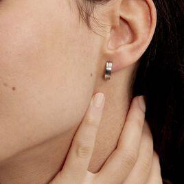 Créoles Casilda Acier Blanc - Boucles d'oreilles créoles Femme | Histoire d'Or