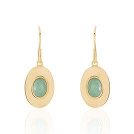 Boucles D'oreilles Plaque Or Caterin Cercle - Boucles d'oreilles fantaisie Femme   Histoire d'Or