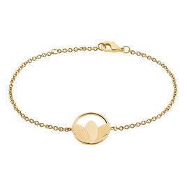 Bracelet Carolia Plaque Or Jaune - Bracelets fantaisie Femme | Histoire d'Or