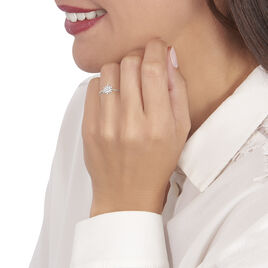 Bague Anelya Or Blanc Oxyde De Zirconium - Bagues avec pierre Femme | Histoire d'Or