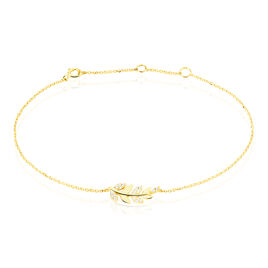 Bracelet Nahia Or Jaune Oxyde De Zirconium - Bracelets Plume Femme | Histoire d'Or