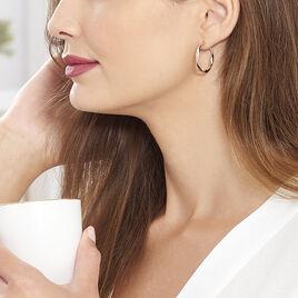 Créoles Alieno Helicoidale Argent Rose - Boucles d'oreilles créoles Femme   Histoire d'Or