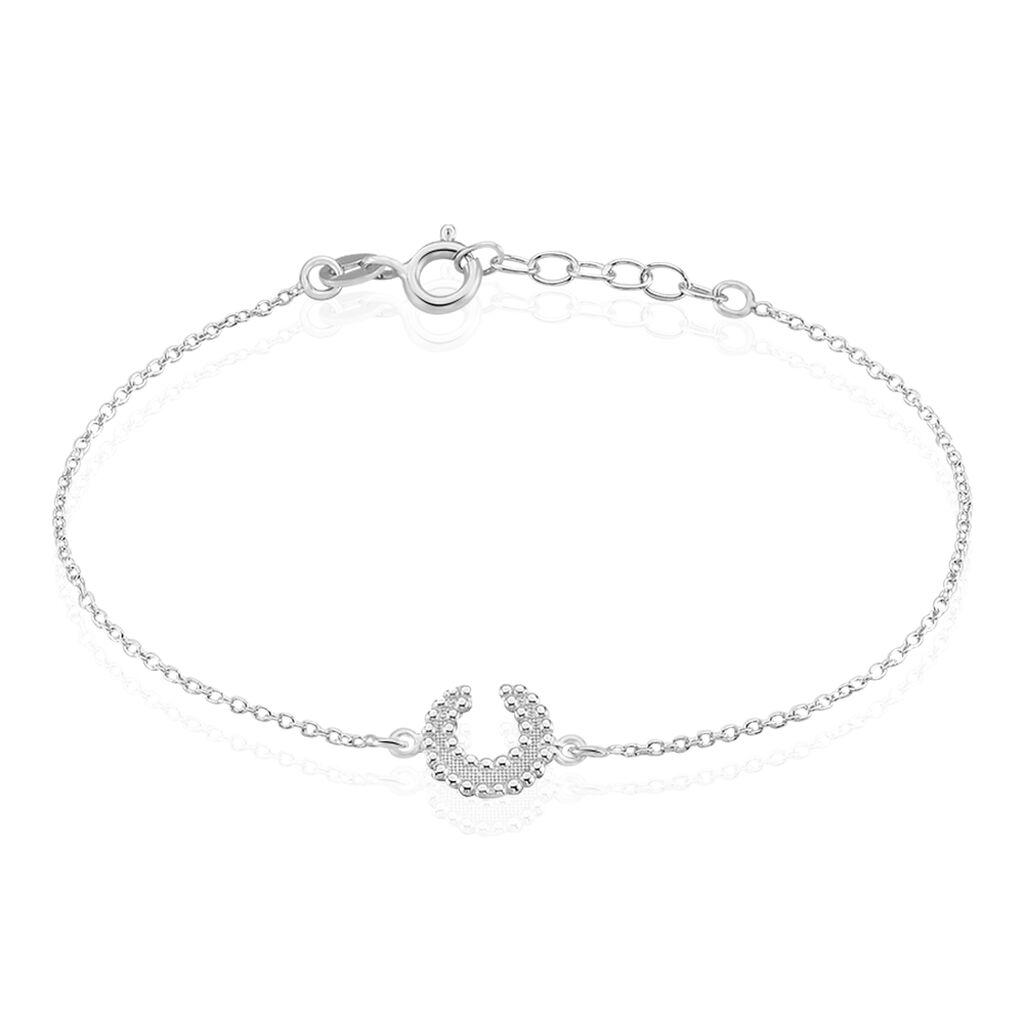 Bracelet Vaea Argent Blanc - Bracelets Lune Femme   Histoire d'Or