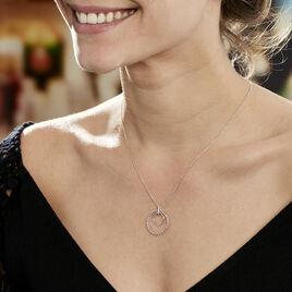 Collier Sowa Argent Blanc Oxyde De Zirconium - Colliers fantaisie Femme   Histoire d'Or