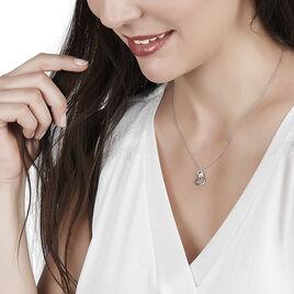 Collier Melesine Or Blanc Diamant - Colliers Coeur Femme   Histoire d'Or