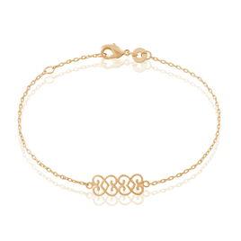 Bracelet Romance Plaque Or Jaune - Bracelets Coeur Femme | Histoire d'Or