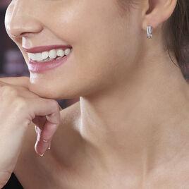 Créoles Nauri Rondes Argent Blanc Oxyde De Zirconium - Boucles d'oreilles créoles Femme | Histoire d'Or