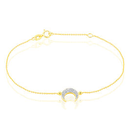 Bracelet Celma Or Jaune - Bracelets Lune Femme | Histoire d'Or