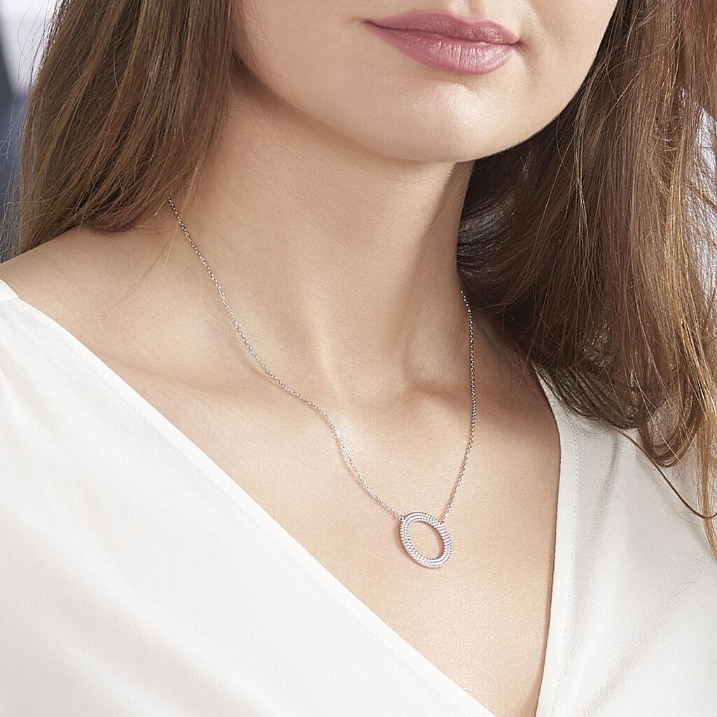 Collier Cordelia Argent Blanc - Colliers fantaisie Femme | Histoire d'Or