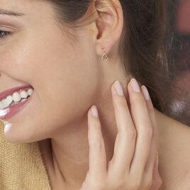 Boucles D'oreilles Pendantes Anne-maudae Pendantes Coeurs Or Jaune - Boucles d'Oreilles Coeur Femme   Histoire d'Or