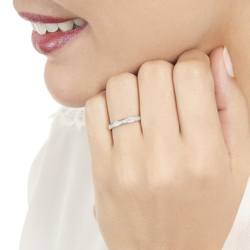 Alliance Siranna Or Blanc Diamant - Alliances Femme   Histoire d'Or