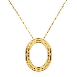 Sautoir Acier Dore Agostino Avec Anneau Ajoure Effet Ciseles - Colliers fantaisie Femme | Histoire d'Or