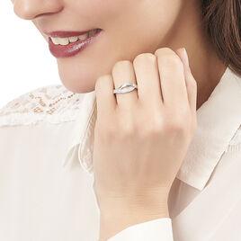 Bague Ange-line Argent Blanc Oxyde De Zirconium - Bagues avec pierre Femme | Histoire d'Or