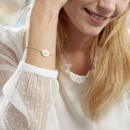 Bracelet Linna Plaque Or Jaune Pierre De Lune - Bracelets fantaisie Femme | Histoire d'Or