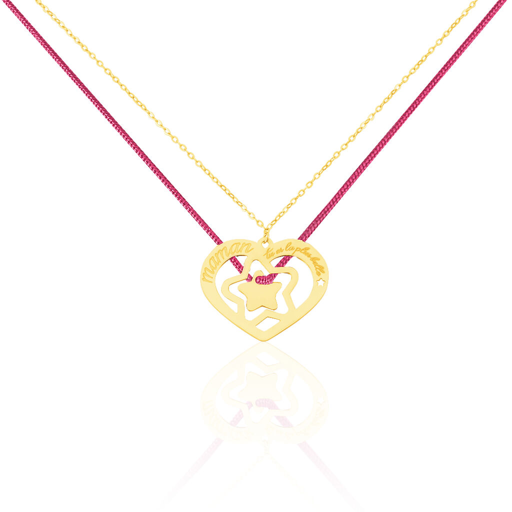 Collier Angelina Message Or Jaune - Colliers Etoile Femme | Histoire d'Or
