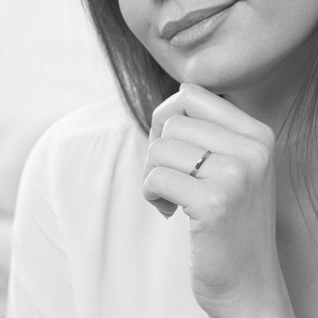 Alliance Julie Ruban Classique Or Blanc - Alliances Famille | Histoire d'Or